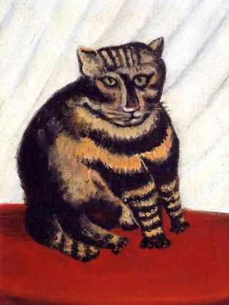 "The ""content"" of Jean-Jacques Rosseau's painting is recognizable as a cat, despite the painting ""style"""